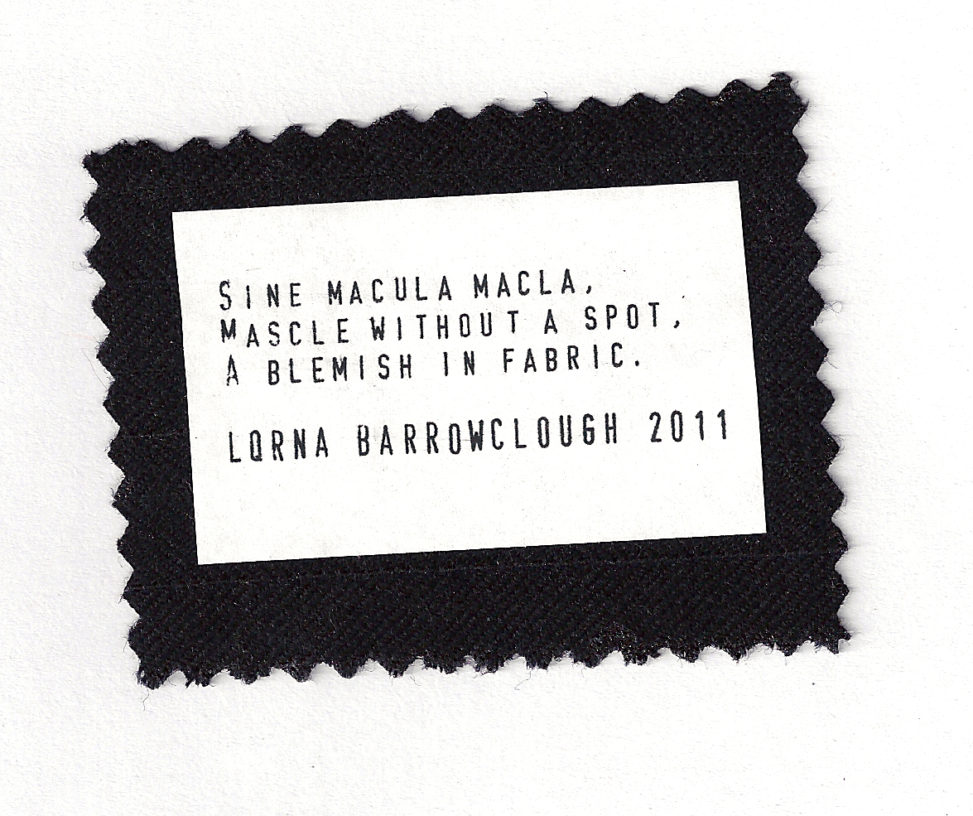 Sine Macula Macla. Mascle With A Spot, A blemish in Fabric